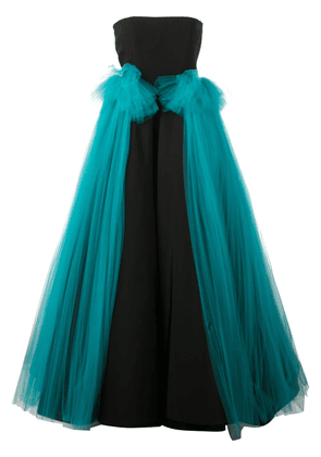 Christian Siriano tulle panel gown - Black