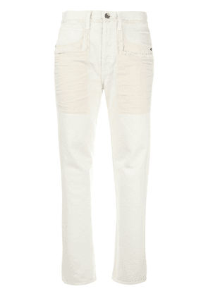 Helmut Lang raw edge jeans - White