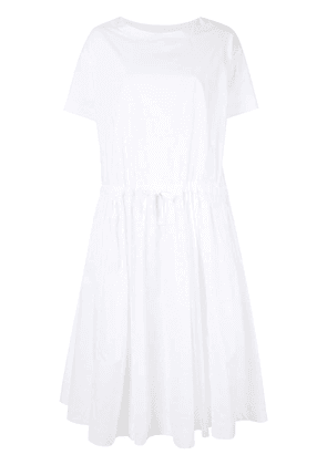 Casey Casey drawstring waist dress - White
