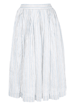Casey Casey striped full skirt - White