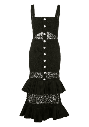 Alexis Lyssa tiered lace dress - Black