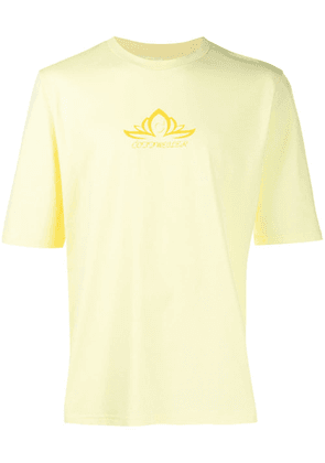 Cottweiler lotus print T-shirt - Yellow