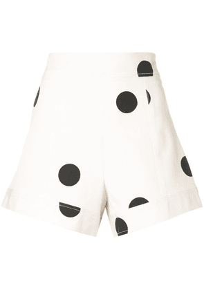 Derek Lam 10 Crosby A-Line Polka Dot Short - White