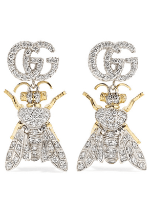 Gucci - Le Marché Des Merveilles 18-karat Yellow And White Gold Diamond Earrings - one size
