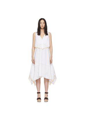 See by Chloé White Eyelet Layered Dress