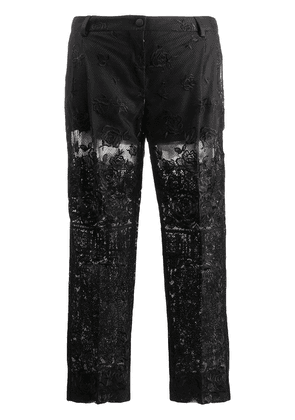 Dolce & Gabbana cropped sheer trousers - Black