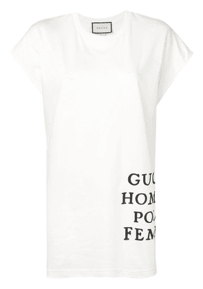 Gucci oversized logo print T-shirt - White