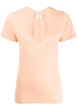 Forte Forte scoop neck T-shirt - Orange