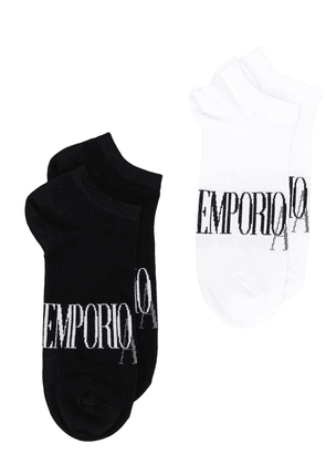 Emporio Armani pack of two logo socks - Black