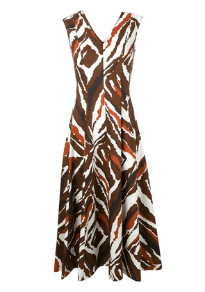 Erika Cavallini all-over print dress - Brown