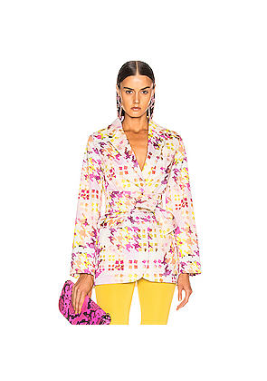 SILVIA TCHERASSI Hannover Jacket in Abstract,Purple,White