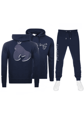 Money Shadow Sig Ape Hooded Tracksuit Navy