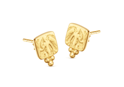 Lucy Williams Square Beaded Coin Studs