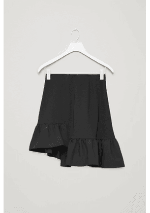 COTTON SKIRT WITH WOVEN FRILL
