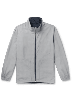 Club Monaco - Reversible Matte-shell And Prince Of Wales Checked Woven Track Jacket - Gray
