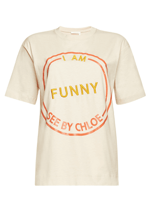 See by Chlo © Cotton Embroidered T-Shirt