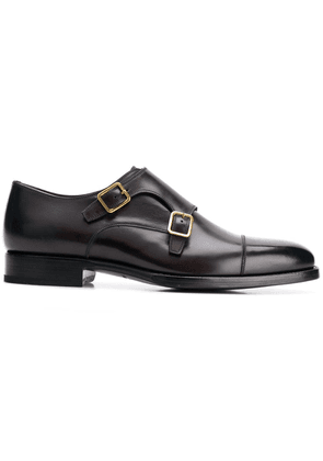 Tom Ford double strap monk shoes - Brown