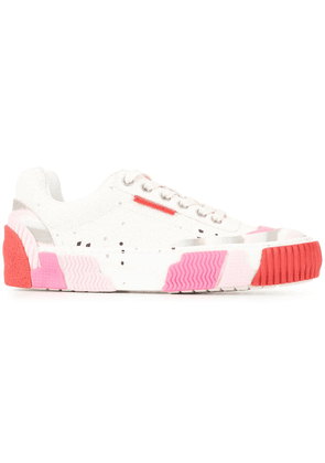Both printed sole sneakers - White