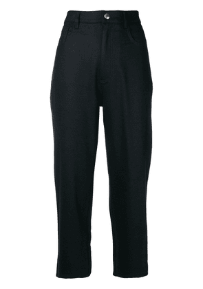 Barena high waisted cropped trousers - Black