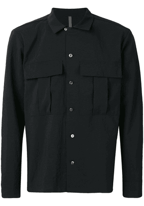 Attachment oversized chest pocket shirt - Black