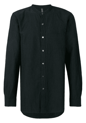 Attachment mandarin-collar shirt - Black
