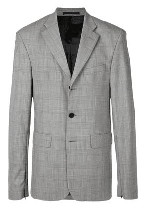 Cmmn Swdn checked single breasted jacket - Grey