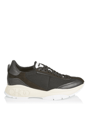RAINE/M Black Suede Leather and Mesh Chunky Trainers