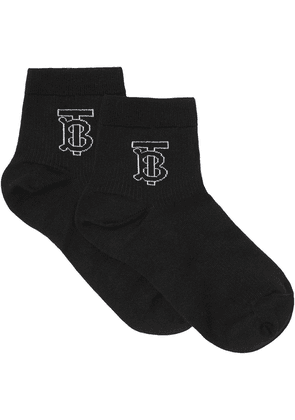 Burberry Monogram Intarsia Socks - Black