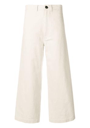 Bellerose flared cropped trousers - Neutrals