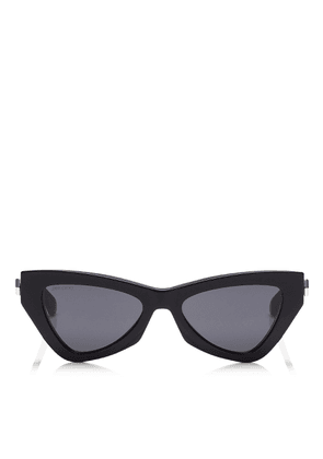 DONNA Grey Cat Eye Sunglasses with Black Frame