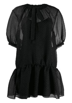 Boutique Moschino layered bow tie dress - Black
