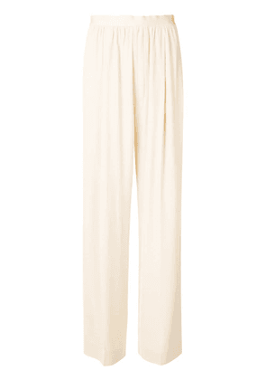 Erika Cavallini pleated palazzo trousers - Neutrals