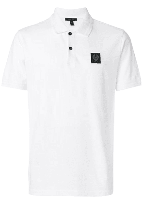 Belstaff logo patch polo shirt - White