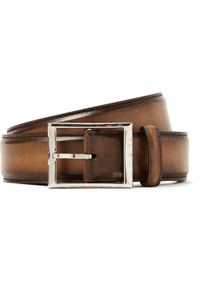 Berluti - 3.5cm Brown Leather Belt - Brown