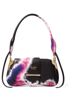Prada - Sidonie Small Tie-dyed Leather Shoulder Bag - Black