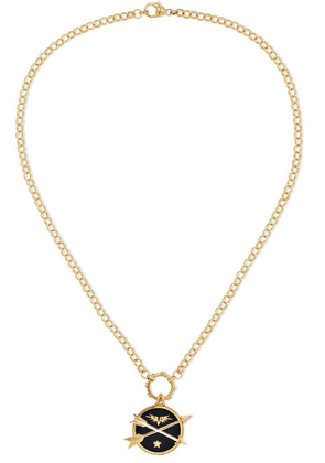 Foundrae - Passion 18-karat Gold, Diamond And Enamel Necklace - one size