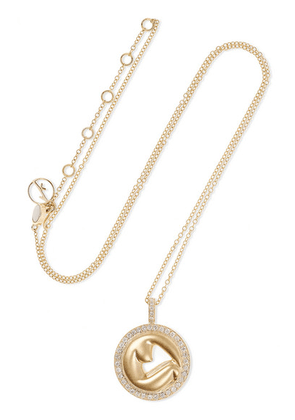 Anissa Kermiche - Olympe De Gouges 14-karat Gold, Diamond And Pearl Necklace - one size