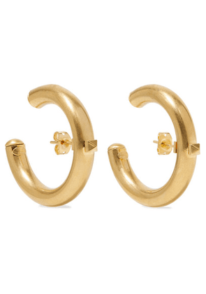 Valentino - Valentino Garavani The Rockstud Gold-tone Hoop Earrings - one size