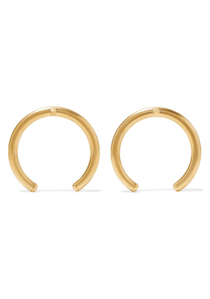Valentino - Valentino Garavani The Rockstud Oversized Gold-tone Earrings - one size