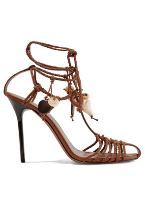 Altuzarra - Embellished Braided Leather Sandals - Tan
