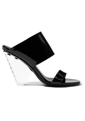 Balmain - Lory Patent-leather And Perspex Sandals - Black