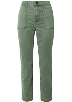 Madewell - Stretch-cotton Blend Straight-leg Pants - Sage green