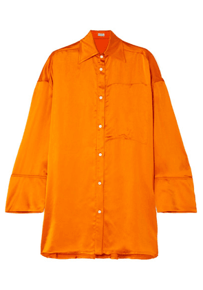 Loewe - Oversized Satin Blouse - Orange