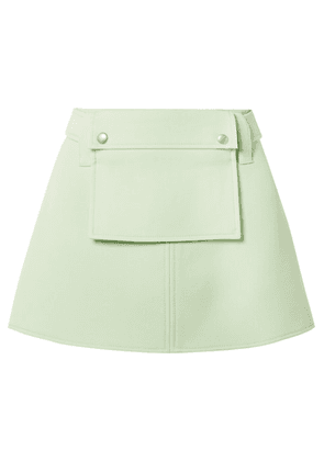 Courrèges - Wool-twill Belted Mini Skirt - Green