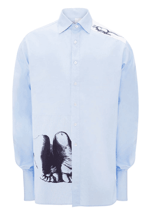 JW Anderson Durer feet and mouse print formal shirt - Blue