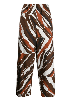 Erika Cavallini cropped printed trousers - White