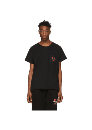 Baja East Black 'Beverly Hills' Pocket T-Shirt