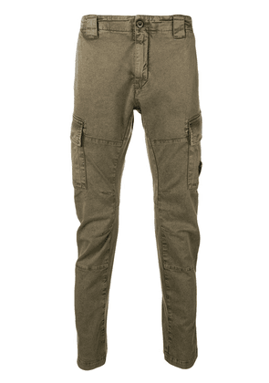 CP Company skinny cargo trousers - Green