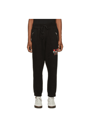 Baja East Black BH Moto Lounge Pants