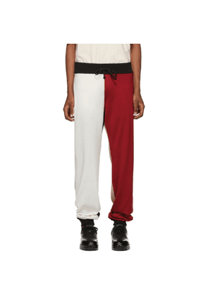 424 Red & White Colorblocked Lounge Pants